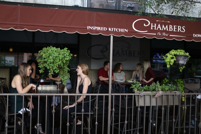 Chambers: Inspired Kitchen & Whiskey Lounge - Downtown Phoenix Patio